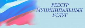 РЕЕСТР МУНИЦИПАЛЬНЫХ УСЛУГ